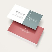 design two sided business card and stationary