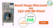 Free Shipping on 250 LPH RO Plant buy now from Pearl Water