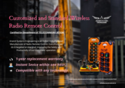 Wireless remote control for EOT crane